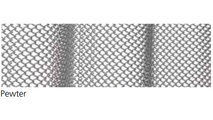 """Pewter Fireplace Mesh Curtain - 1/4"""" Weave"""
