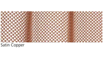 """Satin Copper Fireplace Mesh Curtain - 1/4"""" Weave"""