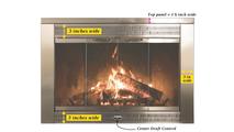Door dimensions for the Regal masonry fireplace glass door