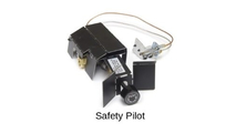 Manual safety pilot (SPK-26) has a manual variable flame control and includes a heat shield.