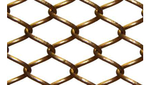 Satin Bronze Mesh Curtain Close Up