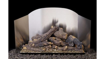 Real Fyre Traditional Fireback in Satin Stainless Steel