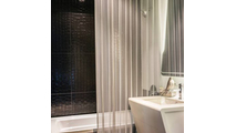 Striking Brite Aluminum mesh shower divider panel