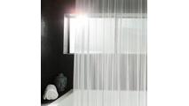 Brite Pearl Grey Serenity Mesh Shower Curtain