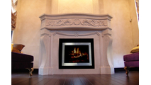 The Broadway Reveal masonry fireplace door installed