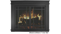 Finley masonry fireplace door - shown without riser bar