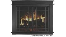 Finley masonry fireplace door - shown without riser bar