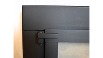 Hinge detail for fixed panel door