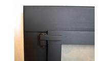 Hinge detail for fixed panel door