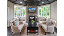 Suggested set up for the see through Twilight II gas fireplace