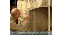 Use the included Sharpie marker to carefully trace your arched fireplace opening onto the clear mylar sheet.