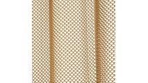 1/4 inch weave and 50% fullness for gathering effect
