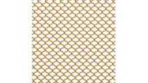 Serenity aluminum shower curtain shown in Satin Gold finish