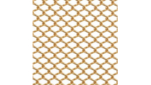 Close up of 1/4 inch metal mesh weave