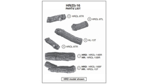 Individual log pieces for the 16 inch Rustic Oak Designer outdoor gas log set from Real Fyre