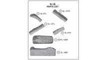 Individual log pieces for the 18 inch Split Oak outdoor gas logs from Real Fyre