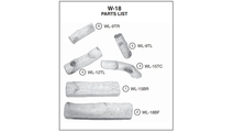 Individual log pieces for the 18 inch White Birch vented gas logs from Real Fyre