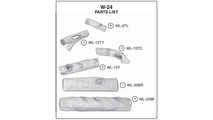 Individual log pieces for the 24 inch White Birch vent gas log set from Real Fyre