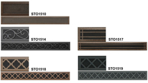 Choose from 5 intricate designs for your top and bottom louvers