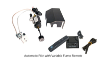 Automatic pilot (APK-17) with variable remote has adjustable flame height and heat output.