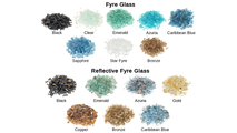 15 beautiful colors of fyre glass available