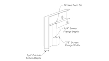 Heirloom masonry fireplace door frame profile - rear view