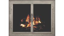 Heirloom Masonry Fireplace Door (shown in Antique Grey premium finish)