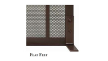 Flat style support feet come standard with the Relic fireplace screen.