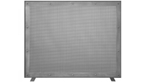 Relic Single Panel Fireplace Screen shown in Antique Grey premium finish