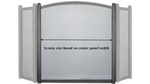 Screen size is based on the center panel width