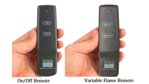 On/ Off Remote and Vaiable Flame Height Remote options