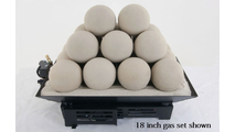 18 inch Alterna FireBalls Vented Gas Set