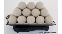 21 inch Alterna FireBalls Vented Gas Set