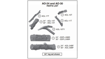 Individual log pieces for the 24-30 inch American Oak outdoor vented gas log set from Real Fyre