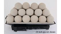 24 inch Alterna FireBalls Vented Gas Set