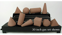 30 inch wide Alterna FireShapes Ventless Fireplace Gas set from Rasmussen Gas Logs