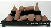 30 inch wide Alterna FireShapes Ventless Fireplace Gas set from Rasmussen Gas Logs