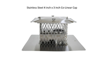 Stainless steel 4 x 3 inch colinear cap