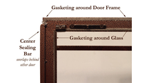 Gasketing around door frame provides an air seal!