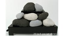 20 inch Alterna FireStones Ventless Gas Set by Rasmussen Gas Logs