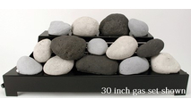 30 inch Alterna FireStones Ventless Gas Set from Rasmussen Gas Logs