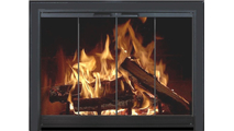Breckinridge 4 sided overlap fit fireplace door with hidden damper