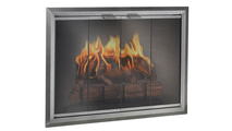 Apex Fireplace Door in Natural Iron without damper