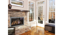 Frame your fireplace in style with the Apex Masonry Fireplace Door!