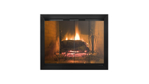 Avaleria Fireplace Glass Door in Matte Black without draft assembly