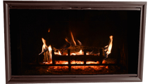 Phoenix 4 sided overlap fit fireplace door shown in Ancient Age