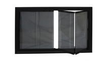 Trackless Bi-Fold Doors with Grey Glass
