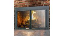 Supreme Air Seal Fireplace Door in Black