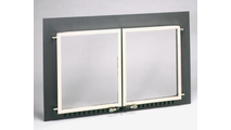 Supreme Air Sealed Fireplace Door with Nickel