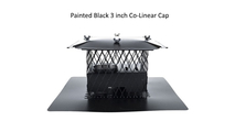 Galvanneal painted black 3 inch colinear cap
